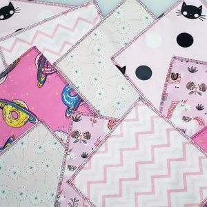 40 reusable CLOTH WIPES mixed pinks